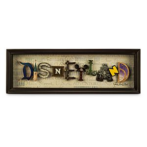Disneyland Icon Letters Shadowbox by Dave Avanzino