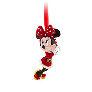 Santa Minnie Mouse Ornament
