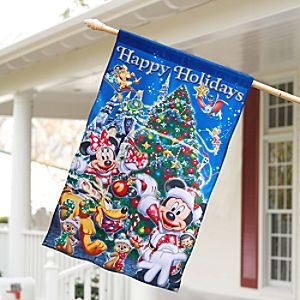 Santa Mickey Mouse and Friends Banner - Holiday