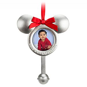 Mickey Mouse Icon Photo Frame Ornament - Babys 1st Christmas
