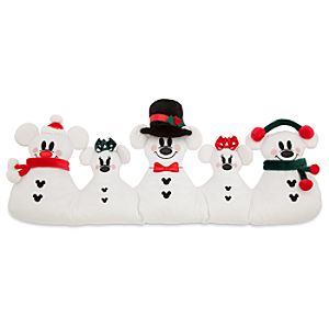 Snowman Mickey And Minnie Mouse Plush Door Draft Stopper