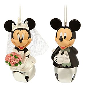 Mickey and Minnie Mouse Bell Ornaments