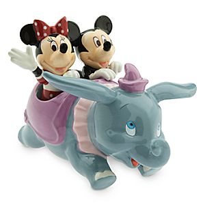 Dumbo with Mickey and Minnie Mouse Salt and Pepper Set