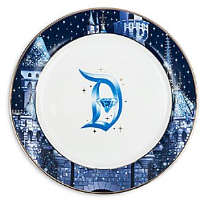 Disneyland Diamond Celebration Dinner Plate