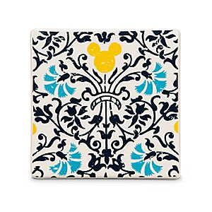 Mickey Mouse Icon Indigo Tile - Floral
