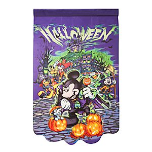 Mickey Mouse and Friends Halloween Yard Flag