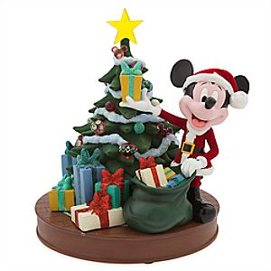 Santa Mickey Mouse Light-Up Retro Holiday Figure