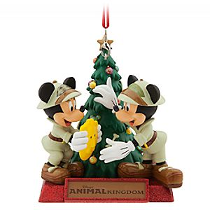 Mickey and Minnie Mouse Holiday Ornament - Disneys Animal Kingdom