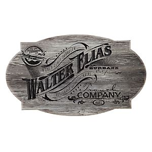 Walter Elias Travel Company Wood Sign