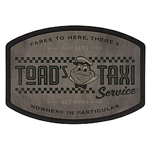 Toads Taxi Service Wood Sign