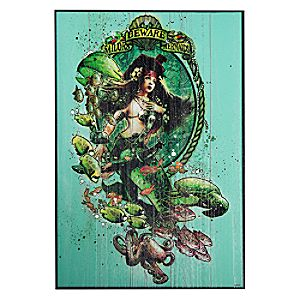Pirates of the Caribbean Mermaid Wood Sign
