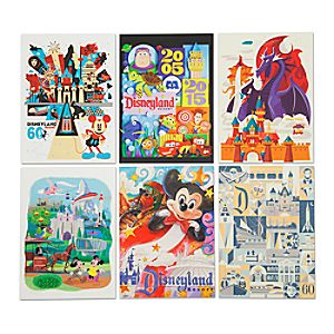 Disneyland Diamond Celebration Art Print Set