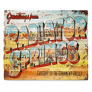 Radiator Springs Metal Sign - Cars