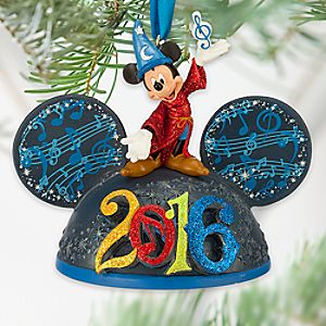Sorcerer Mickey Mouse Light-Up Ear Hat Ornament - Disney Parks 2016
