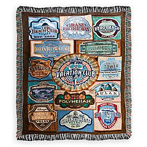 Disney Vacation Club Tapestry Woven Throw