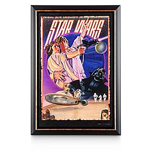 Star Wars Movie Poster Reproduction Metal Print - Framed