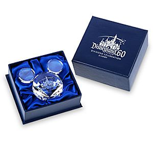 Mickey Mouse Icon Cut Crystal Paperweight by Arribas - Disneyland Diamond Celebration - Limited Release