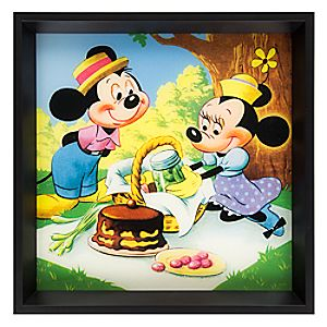 Mickey and Minnie Mouse Picnic Deluxe Print