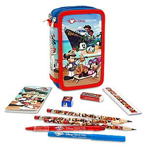 Captain Mickey Mouse and Friends Zip-Up Stationery Kit - Disney Cruise Line