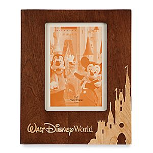 Walt Disney World Wood Photo Frame - Portrait - 5 x 7