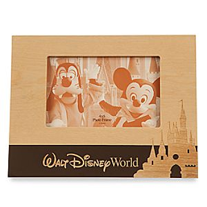 Walt Disney World Wood Photo Frame - Landscape - 4 x 6