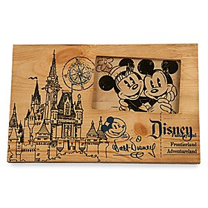 Fantasyland Castle Blueprint Wood Photo Frame - 4 x 6