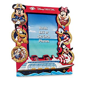 Captain Mickey Mouse and Friends Photo Frame - Disney Cruise Line - 6 x 8 or 5 x 7
