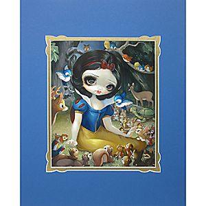 Snow White in the Forest Deluxe Print by Jasmine Becket-Griffith