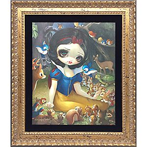 Snow White in the Forest Framed Giclée on Canvas by Jasmine Becket-Griffith - Limited Edition