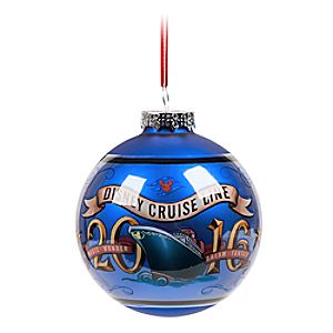 Mickey and Minnie Mouse Ball Ornament - Disney Cruise Line 2016