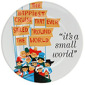 Disney Parks Attraction Poster Plate - its a small world - 7