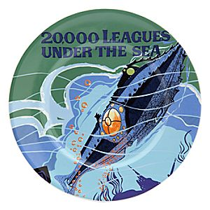 Disney Parks Attraction Poster Plate - 20,000 Leagues Under the Sea - 7