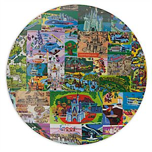 Magic Kingdom Map Plate - 7