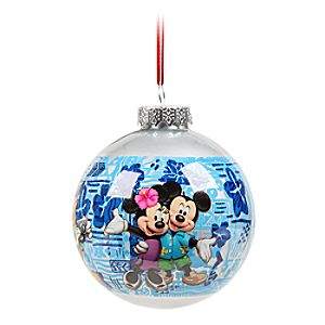 Mickey Mouse and Friends Glass Ball Ornament - Aulani, A Disney Resort & Spa