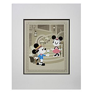 Mickey and Minnie Mouse Courting Minnie Deluxe Print by Jerrod Maruyama - 18 x 14
