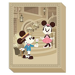 Mickey and Minnie Mouse Courting Minnie Giclée on Canvas by Jerrod Maruyama - Medium - Limited Edition