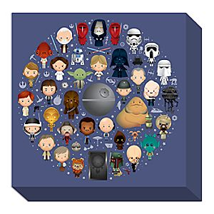 Star Wars Galaxy of Cute Giclée on Canvas by Jerrod Maruyama - Medium - Limited Edition