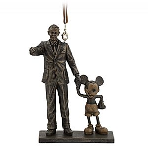 Walt Disney and Mickey Mouse Partners Figural Ornament