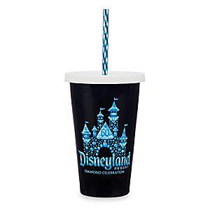 Disneyland Diamond Celebration Ceramic Tumbler with Straw