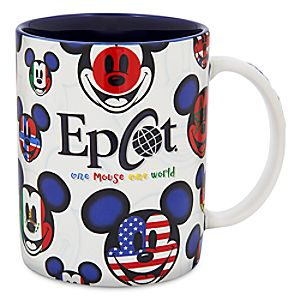 Mickey Mouse Epcot Flags Mug