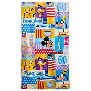 Disneyland Diamond Celebration Beach Towel