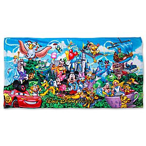Disney Storybook Beach Towel - Walt Disney World