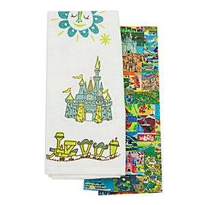 Magic Kingdom Map Kitchen Towel Set