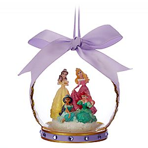 Disney Princess Glass Globe Ornament - Lilac