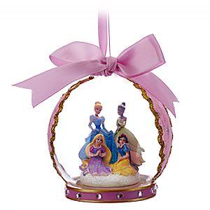 Disney Princess Glass Globe Ornament - Pink