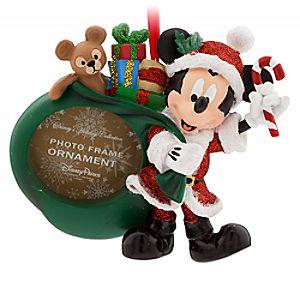Santa Mickey Mouse Photo Frame Ornament