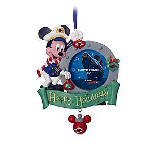 Captain Mickey Mouse Photo Frame Ornament - Disney Cruise Line