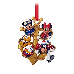 Captain Mickey Mouse and Crew Ornament - Disney Cruise Line