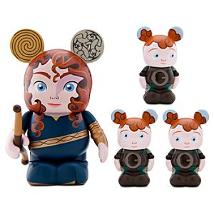 Vinylmation Brave 3 Figure -- Merida with 1 1/2 Triplet Figures