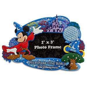 Walt Disney World Resort Sorcerer Mickey Mouse Photo Frame Magnet -- 2 x 3